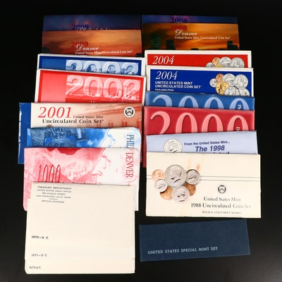 Thirteen United States Uncirculated Mint Sets Including 1966 Special Mint Set