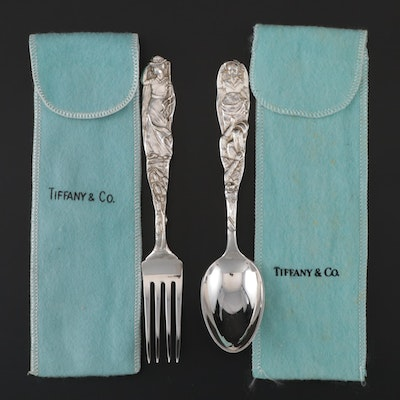 "Tiffany & Co. ""Nursery Rhymes"" Youth Fork and Spoon, Early/Mid 20th Century"