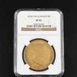 NGC Graded XF45 1818/7 MO JJ Mexico 8 Escudos Gold Coin