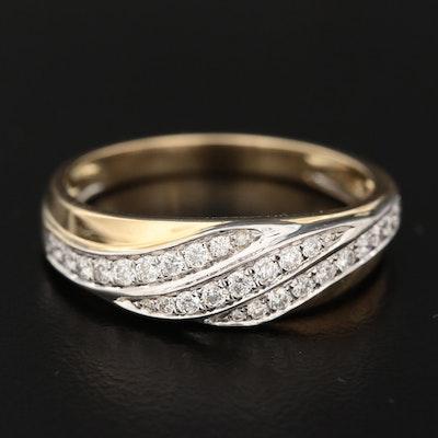 Shy Creations 14K Gold Diamond Triple-Row Ring