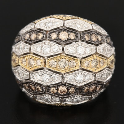 18K Gold 2.03 CTW Diamond Dome Ring