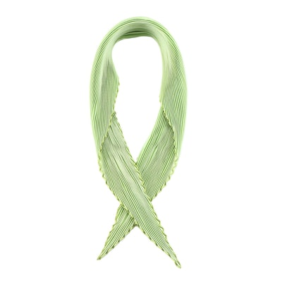 Hermès Celadon Green Plissé Silk Scarf