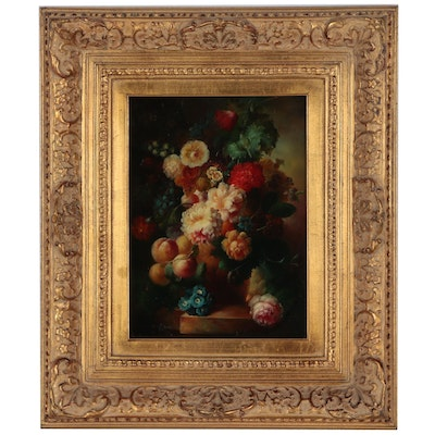Dutch Style Floral Still Life Painting, 20th Century
