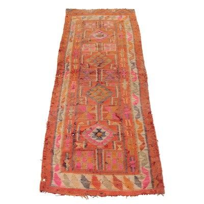2'10 x 7'8 Handwoven Turkish Village Kilim Runner, 1920s