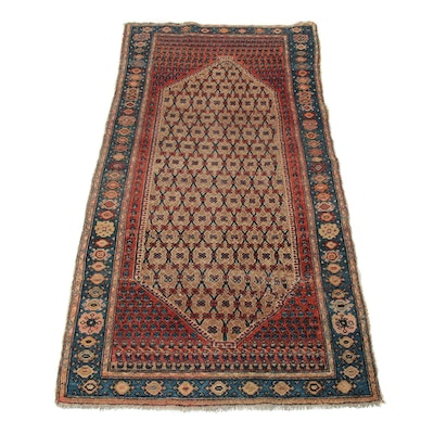3'4 x 6'6 Hand-Knotted Persian Malayer Rug, 1920s