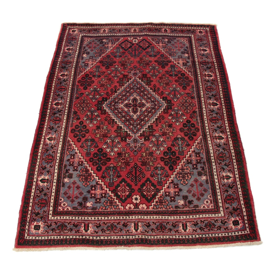 4'6 x 6'9 Hand-Knotted Persian Josheghan Rug, 1970s
