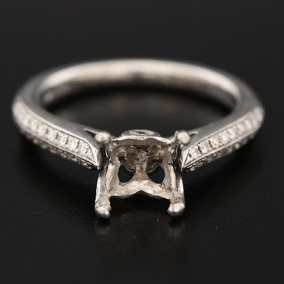 Palladium Diamond Semi-Mount Ring