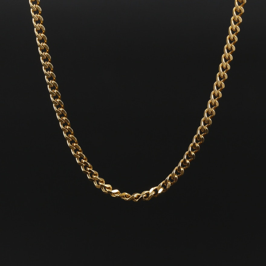 Curb Chain Link Necklace