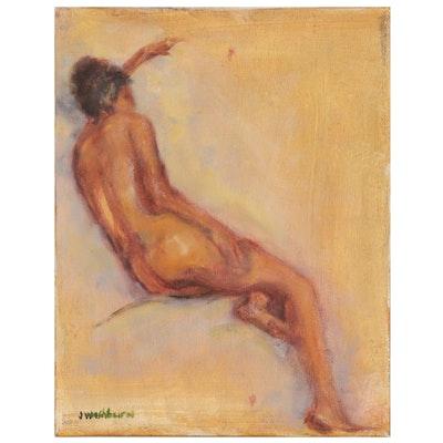 Jane Strasser Washburn Oil Painting of Female Figure