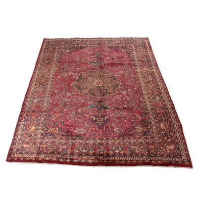 8'2 x 11' Hand-Knotted Persian Kashmar Khorasan Rug, 1970s