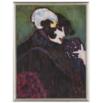 Figural Oil Painting, Late 20th Century