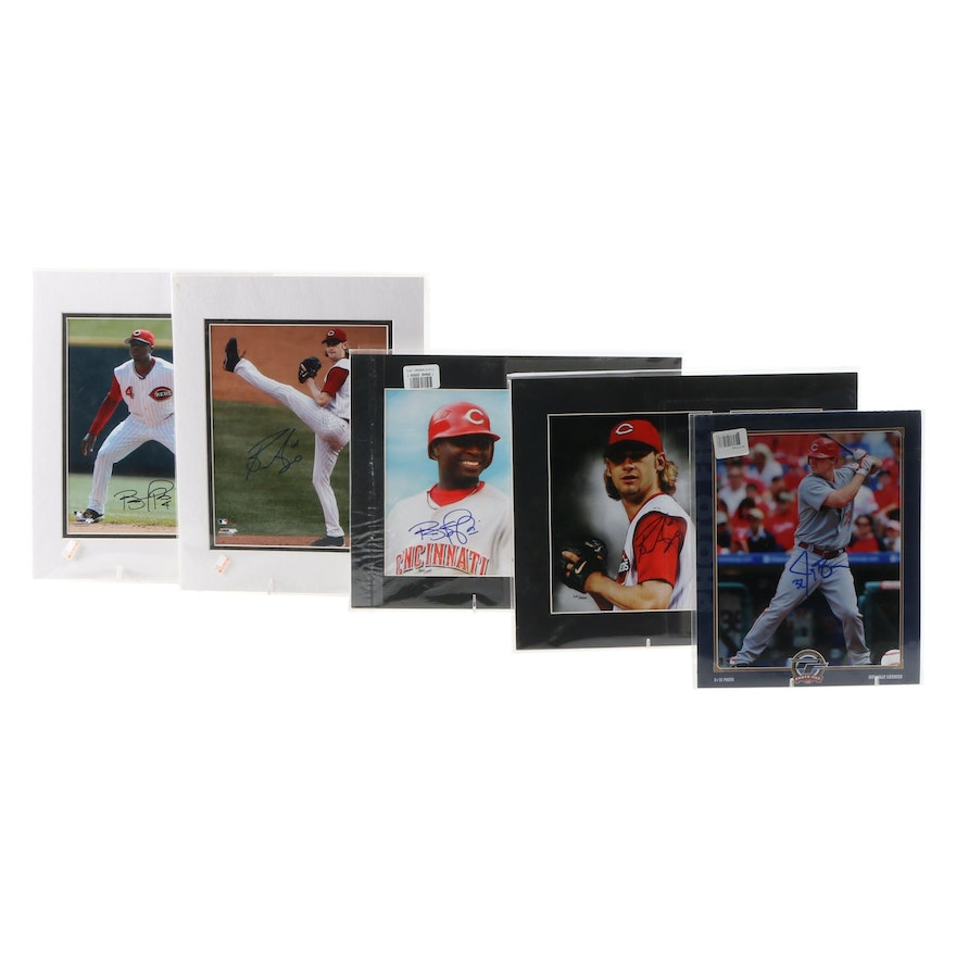Jay Bruce, Brandon Phillips and Bronson Arroyo Signed Items