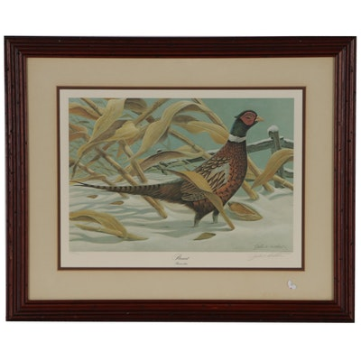 "John Ruthven Offset Lithograph ""Pheasant"""