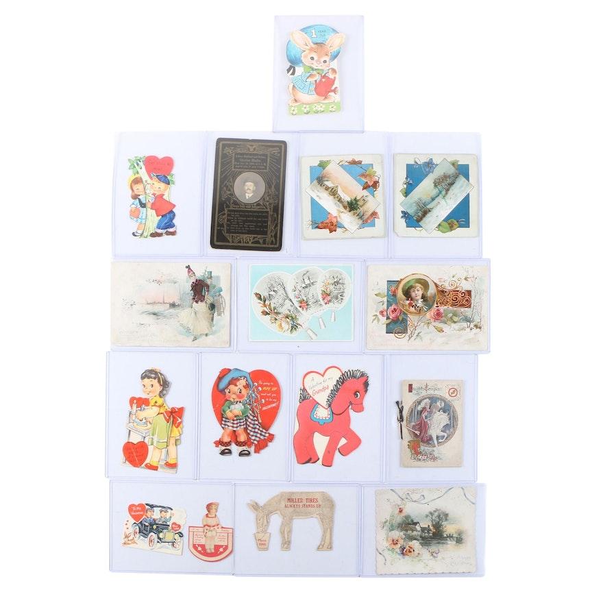 Advertising Victorian Trade Cards with Seasonal Ephemera and More