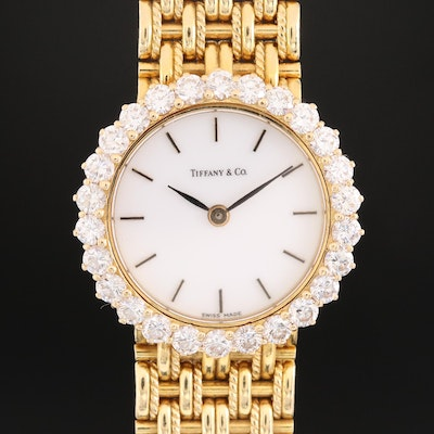 Tiffany & Co. 18K Gold and 1.69 CTW Diamond Swiss Wristwatch by Walden Creation