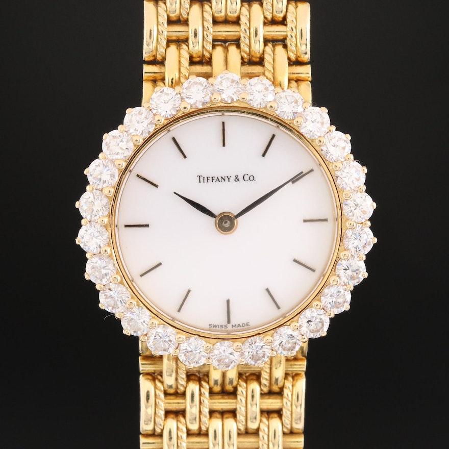Tiffany & Co. 18K Gold and 1.69 CTW Diamond Swiss Wristwatch by Walden Creation