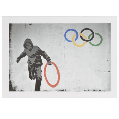 """Giclée after Banksy """"Stolen Olympic Rings"""""""