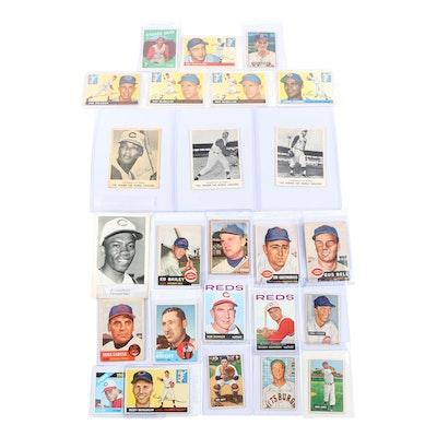 1950s-1960s Kahn's, Bowman, and Topps Cincinnati Reds Baseball Cards