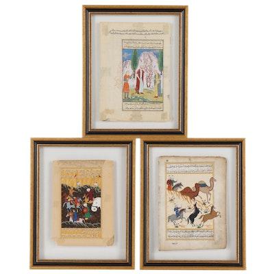 Indo-Persian Gouache Illustrated Manuscripts, Antique