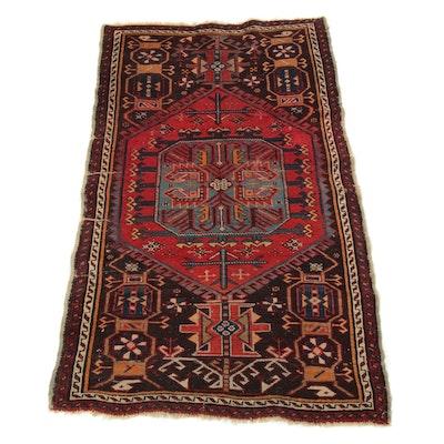 3'0 x 4'8 Hand-Knotted Caucasian Kazak Rug, 1900s