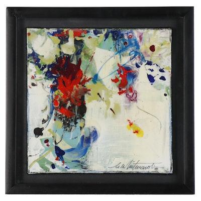 "Mark Whitmarsh Abstract Acrylic Painting ""Divine Garden #265"""
