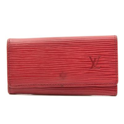 Louis Vuitton Red Epi Leather Key Case