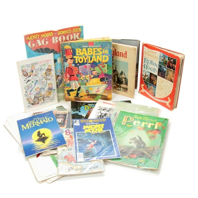 Disney Books and Comics, Placemats, and Mouseketeer Memorabilia