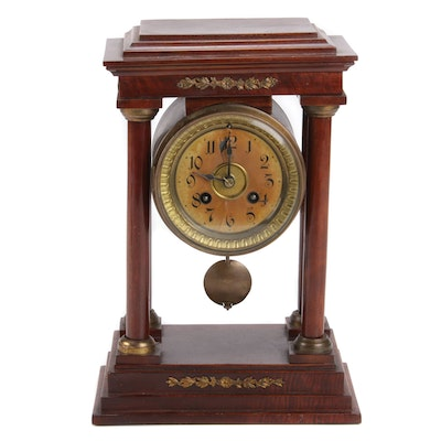 Junghans French Empire Style Portico Clock