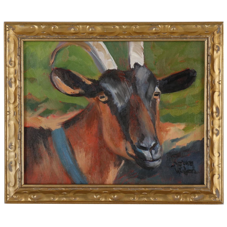 Norma Wilson Oil Painting of Goat