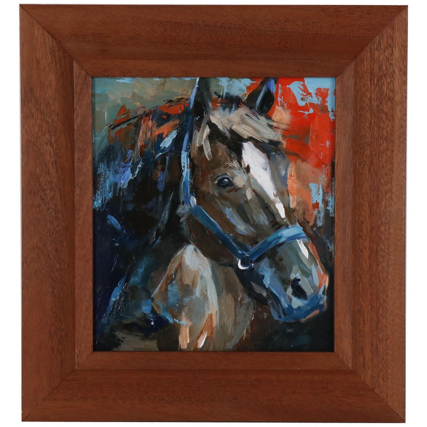 """Oil Painting """"Red Horse"""", 2019"""