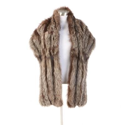Silver Fox Fur Wrap Stole
