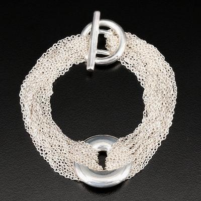 Sterling Silver Multi-Chain Bracelet