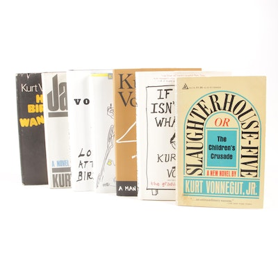 "Kurt Vonnegut Books including First Printing ""Look at the Birdie"""
