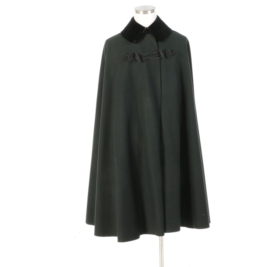 Naval Officer's Wool Boat Cloak with Velveteen Collar