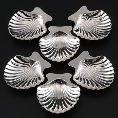 Tiffany & Co. Sterling Silver Scalloped Shell Nut Dishes