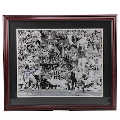 Joe Namath Signed Super Bowl Photo Print   COA