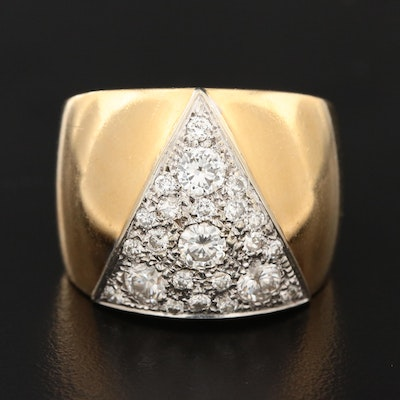 18K Yellow Gold 1.21 CTW Diamond Ring