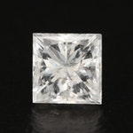 Loose 0.42 CT Princess Cut Diamond Gemstone