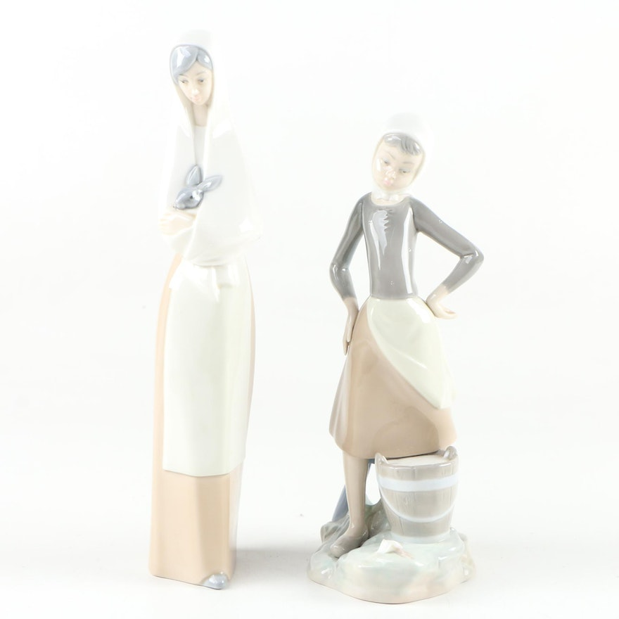 Lladró and NAO Porcelain Figurines