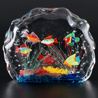Francesco Ragazzi Art Glass Aquarium Sculpture