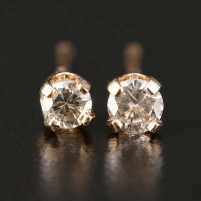 14K Yellow Gold 0.21 CTW Diamond Stud Earrings