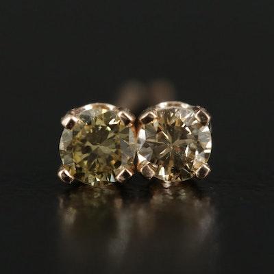 10K Yellow Gold 0.20 CTW Diamond Stud Earrings