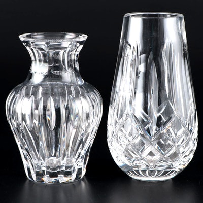 "Waterford Crystal ""Lismore"" Flower Vase and Marquis by Waterford Violet Vase"