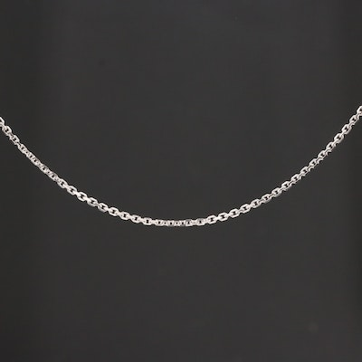14K White Gold Cable Chain Necklace
