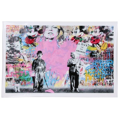 """Giclée after Mr. Brainwash """"Love is the Answer"""""""