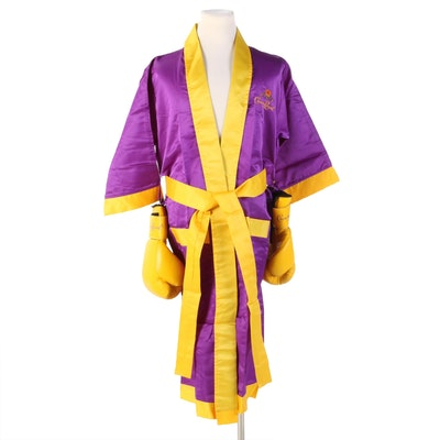 Crown Royal Advertising Boxing Robe with Gloves
