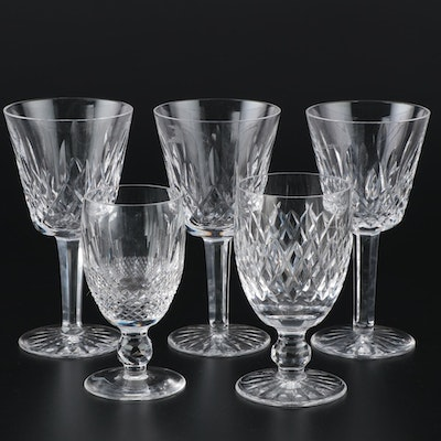 "Waterford Crystal ""Lismore,"" ""Colleen,"" and ""Boyne"" Claret Wine Glasses"