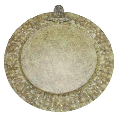 Jan Barboglio Hammered Bronzed Metal Charger