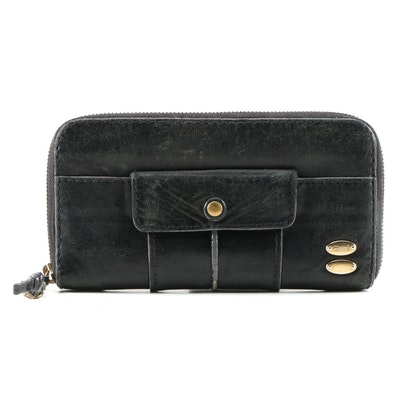 Chloé Heloise Portefeuille Clutch Wallet in Black Leather