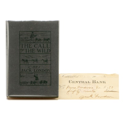 "Early Printing ""The Call of the Wild"" by Jack London with Signed Check, 1903"